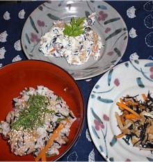 ひじきの煮物が・白和え・ひじきご飯に変身 完成