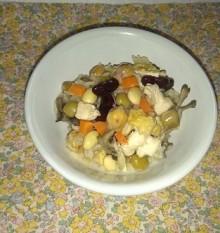 和風だしde五色豆炊き込みご飯 盛り付け